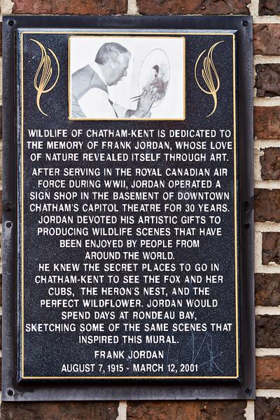 Local Chatham-Kent wildlife artist.