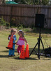 Addy and Olivia play with the cones at the CCCC Clear Springs Fall Picnic 2008