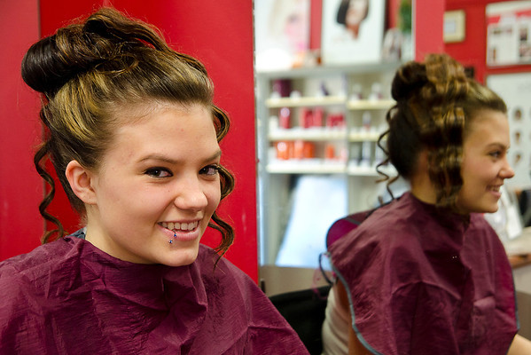 Cosmetology Careers Unlimited Graduation style show January 2013