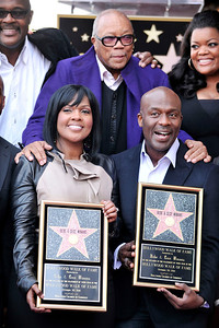 BeBe and CeCe Winans honored with a star on the Hollywood Walk Of Fame. Family and friends join CeCe and BeBe Winans on october 20, 2011. Quincy Jones,CeCe and BeBe, Yvette Nicole Brown Valerie Goodloe