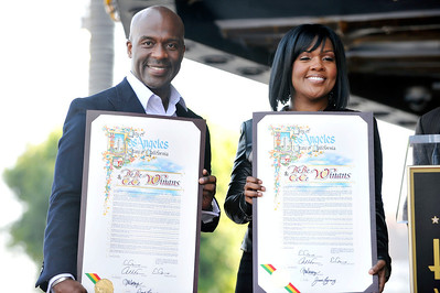 BeBe and CeCe Winans honored with a star on the Hollywood Walk Of Fame. Family and friends join CeCe and BeBe Winans on october 20, 2011. Valerie Goodloe