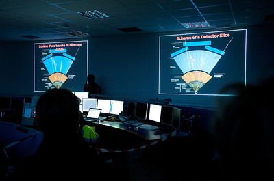 The ATLAS experiment control room.