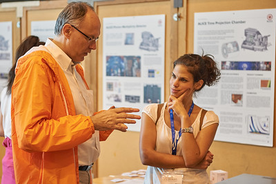 ALICE spokesperson explaining ALICE to a visitor.