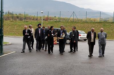 Arrival of the Indian delegation.