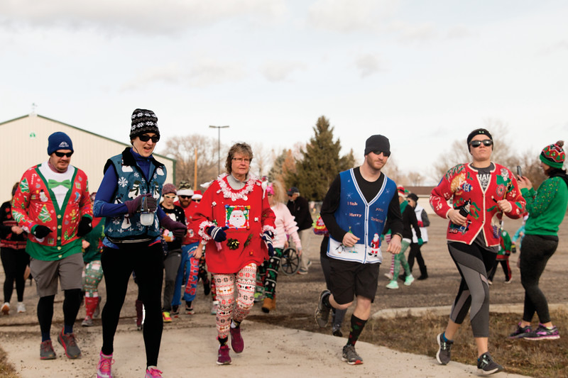 Matthew Gaston | The Sheridan Press<br>CHAPS had their third annual Ugly Sweater 5K at Thorne-Rider Park Saturday, Dec. 1, 2018.