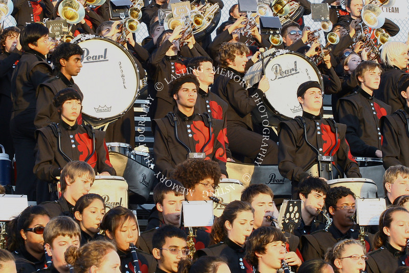 Colleyville Heritage High School Band at Irving Nimitz football game