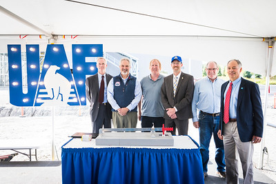 The ceremonial switch of the combined heat has been turned on. UAF marked the ceremonial start of the CHP on the Fairbanks campus during a ceremony August 29, 2018.