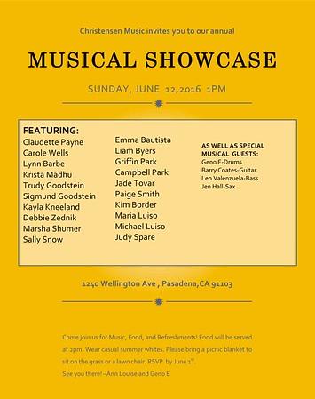 CHRISTENSEN MUSIC Presents MUSIC SHOWCASE @ WELLINGTON - 06.10.16
