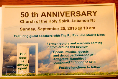 50th Anniversary at Church of the Holy Spirit