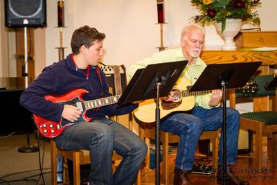 Lucas and Doug rehearsing ar Fran McKendree Concert at Church of the Holy Spirit Oktoberfest
