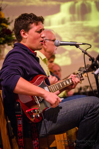 Lucas Corcodilos performing at Fran McKendree Concert at Church of the Holy Spirit Oktoberfest