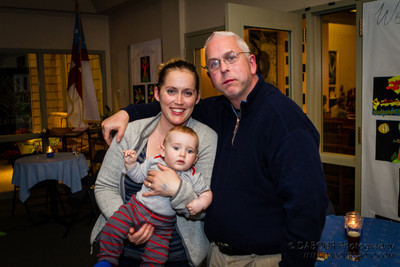 Erik with his nephew and sister Erin Anderson at the Fran McKendree Concert at Church of the Holy Spirit Oktoberfest