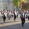 The Clinton High School Marching Band performs during the Clinton Homecoming parade on Thursday on Third Street. • Katie Dahlstrom/Clinton Herald