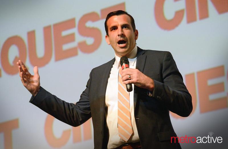 San Jose Mayor Sam Liccardo addresses Cinequest Audience