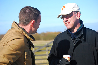 Prof. Aaron Friedberg, who co-directs CISS, speaks with a student on Utah Beach.