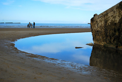 The first stop of the staff ride was at Arromanches to view the mulberries, built to create a temporary harbor.