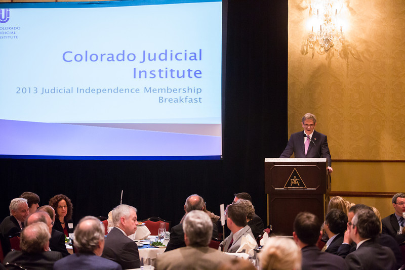 Colorado Judicial Institute 2013 Member Breakfast