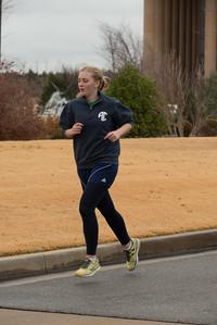 Jessica Brandon gears up for her final sprint. #SwansInFlight5K 2015