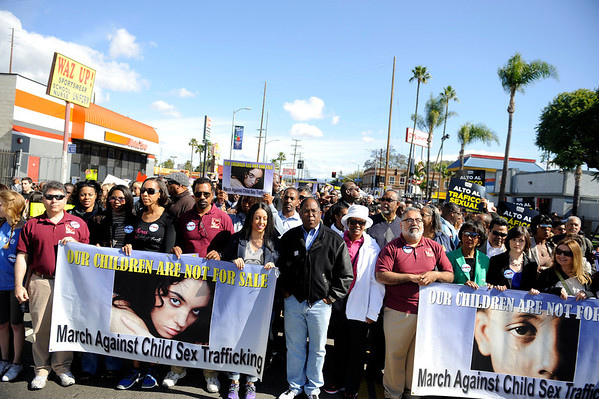 "LOS ANGELES CA.COMMUNITY MARCH & RALLY AGAINST SEX TRAFFICKING ""OUR CHILDREN ARE NOT FOR SALE ""  WAS HELD APRIL 25, 2014 ON KING AND WESTERN WITH SUPERVISOR MARK RIDLEY-THOMAS,  CITY COUNCIL MEMBERS, CLERGY, COMMUNITY ACTIVIST AND THE COMMUNITY ATTENDED.(Photos by Valerie Goodloe"