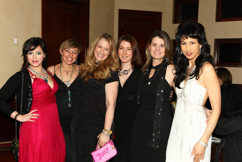 Tatiana Del Toro (far left) & Elly Kaye (far right) at Celebrity Suites LA Oscars After Party