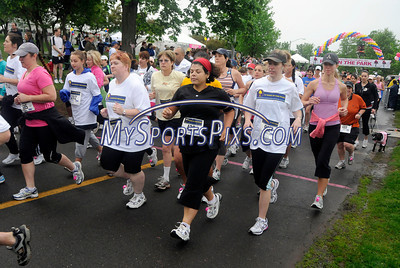 5/8/2010 Mike Orazzi | Staff The start of the women's 5K run at the Connecticut Race In The Park at Walnut HIll Park in New Britain on Saturday morning.