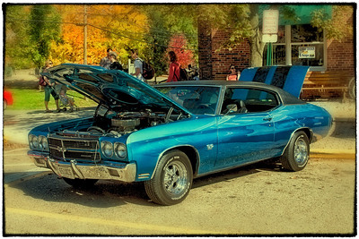 1970 Chevy Chevelle SS at the First Annual CTFA (College Township Fire Dept) Prevention Car Show in Gambier, Ohio on October 8, 2011.