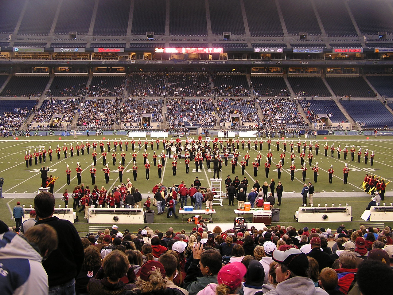 Beginning of the half time show.