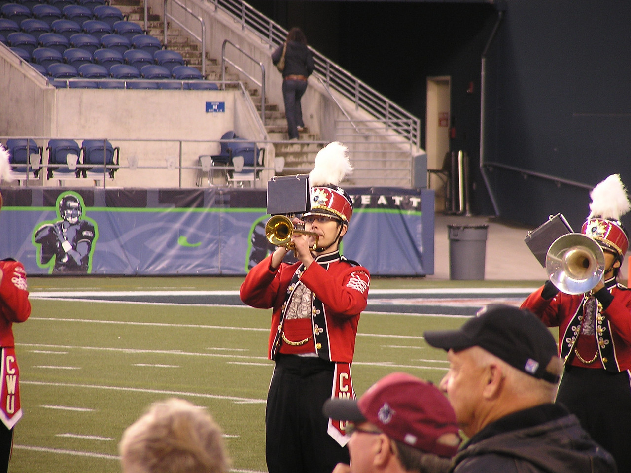 Kevin on the trumpet.