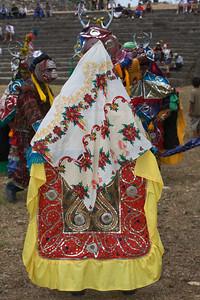 The elaborate costumes worn by the dancers of the Deer Dance - Lubaantun, Toledo, Belize.