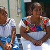 Two Mayan women having a good laugh while at the Cacao Festival in Punta Gorda Town, Toledo, Belize.