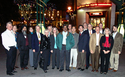 Conference speakers, session chairs and guest at Disneyland Downtown.