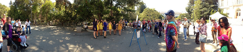 California Golden Overtones performing in front of Wheeler Hall at the 2012 Free for All