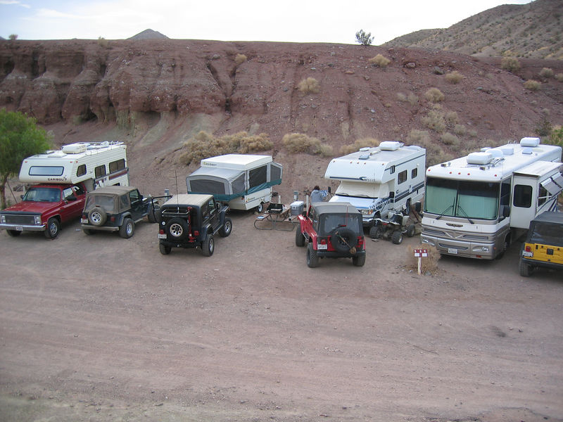 Our Camp (the Red Jeep)