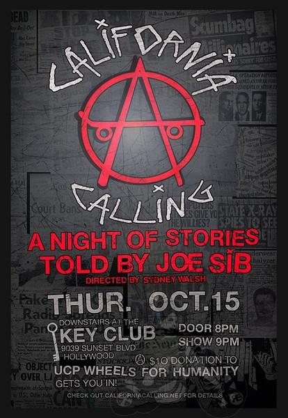 California Calling - A night of story telling with Joe Sib - at Key Club - at The Key Club - Hollywood, CA - October 15, 2009