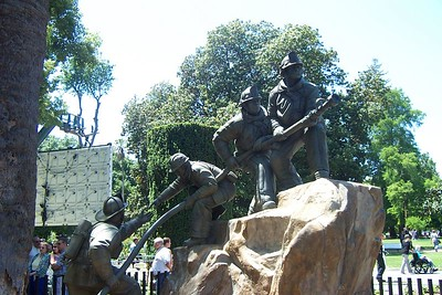One of the Sculptures of the Memorial