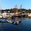 Camden Harbor with schooners