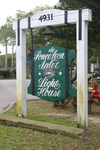 Ponce de Leon Lighthouse Station - Sign