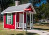 A mini schoolhouse replica at the Agnes Lamb Four Seasons Park