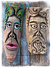Totem Pole type carvings - After HDR processing and adding a frame