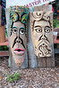 Totem Pole type carvings - Before HDR