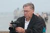Camera Club of Brevard January, 2009 Fieldtrip - Ed McEwen checking his last photo he took