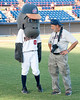Manatees Baseball Game - Dennis Greenblat and the Manatees' Mascot