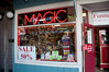 The magic shop where Sandy is going to visit and they have up to 50% off