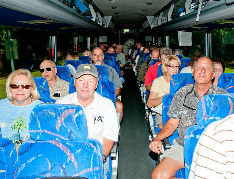 Bus load of Camera Club of Brevard members on the way to St Augustine
