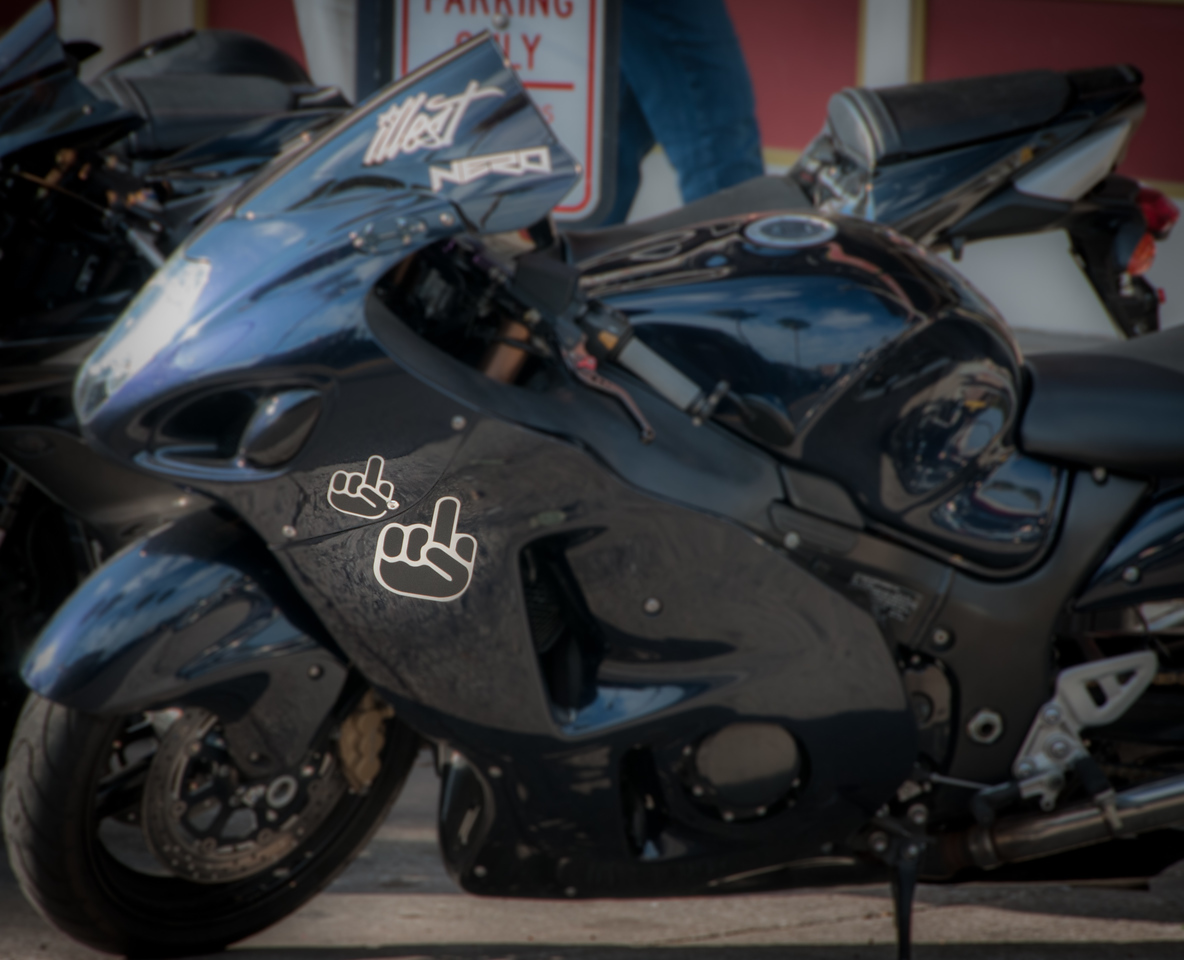 • Location - Ybor City<br /> • I guess that motorcycle gave me its finger for taking its photo.