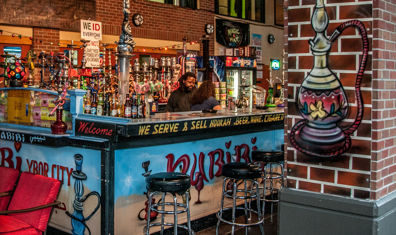 • Location - Ybor City<br /> • They sell Hookah, Beer, Wine, Cigaretts, etc. at this bar