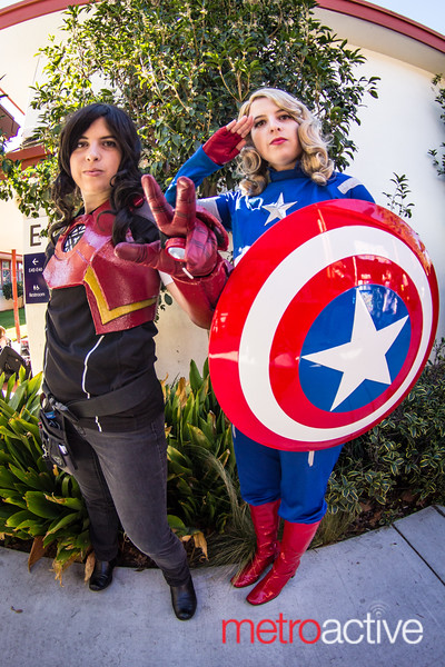 Iron Man and Captain America Cosplayers