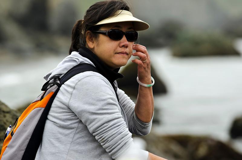 Chi Loan (the Singer), enjoying the scenery