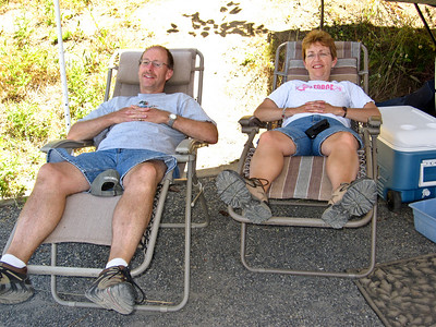 Todd and Shelley have the perfect camping chairs.