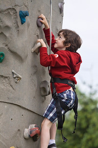 Adam Attar from Port Coquitlam scales the climbing wall. Canada Day, Castle Park, Port Coquitlam, July 1, 2012